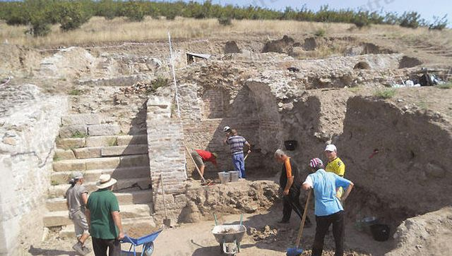 This photo shows the archaeological excavations in the Ancient Greek, Thracian, and Roman city of Heraclea Sintica near Bulgaria's Petrich. Photo: Struma Daily