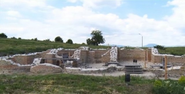 Part of the ruins of the glorious Ancient Thracian city of Kabile, one of the residences of the rulers of the Odrysian Kingdom (5th-1st century BC) near Bulgaria's Yambol. Photo: TV grab from News7