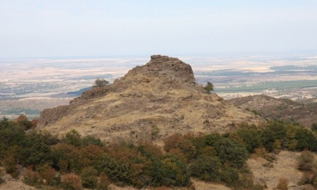 Much of Southern Bulgaria is visible from Mount Dragoyna near the town of Parvomay. Photo: archaeologist Elena Bozhinova