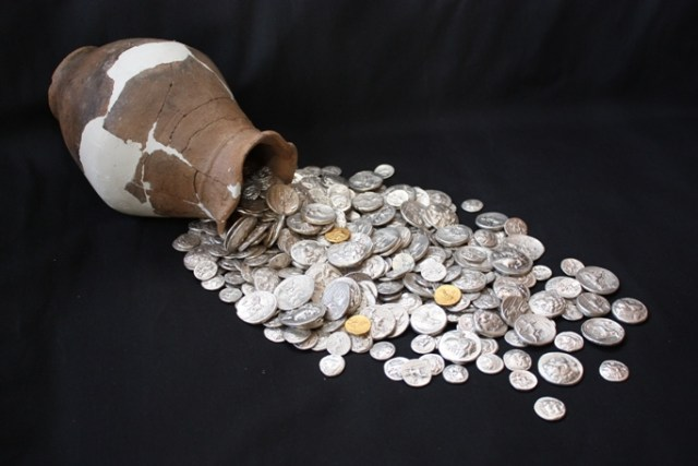 Pictured is the so called Pistiros Treasure discovered at the Ancient Greek and Thracian emporium Pistiros in Bulgaria's Vetren, Septemvri Municipality. The treasure consists of