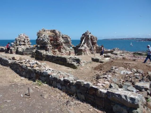 The ruins of the Early Christian St. John the Baptist Monstery on the St. Ivan Island in the Black Sea off the coast of Bulgaria's Sozopol. Photo: BurgasNews