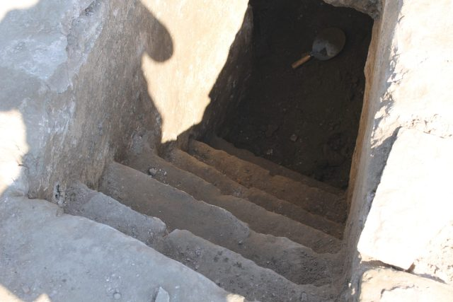 The unearthing and the opening of the newly discovered crypt in the Early Christian Bishop's Basilica in the ancient city of Zaldapa in Krushari Municipality, Dobrich District, Northeast Bulgaria. Photos: Krushari Municipality