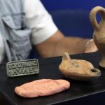 Archaeologist Finds Clay Lamp with Eros, Other Roman Age Artifacts in Ancient and Medieval Rock City Perperikon