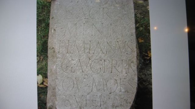 One of the two newly found inscriptions from the Roman city of Ratiaria in Northwest Bulgaria dedicated to goddess Diana by the governor of the Moesia Superior Province Fabius Minicius Opimianus. Photo: Kmeta