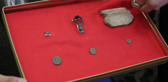 Archaeologists Find 10th Century AD Heart-Shaped Belt Decoration in Medieval Fortress Urvich near Bulgaria's Capital Sofia