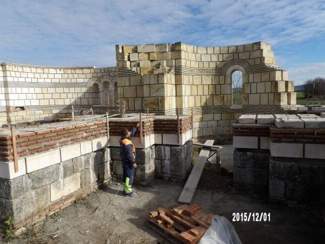 More recent photos from the archaeological restoration of the Great Basilica in Pliska. Photos: National Museum of History