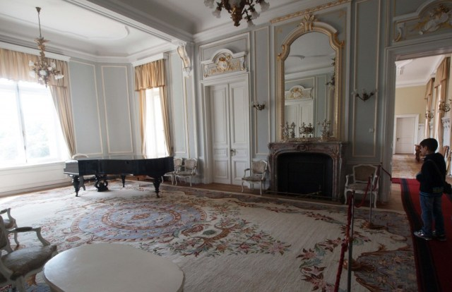 "The interior of the Euxinograd Palace features some original Chippendale, Rococo, and ""Louis XVI"