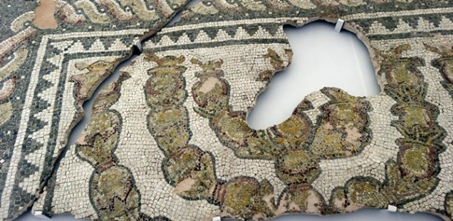 Newly Restored Floor Mosaics from Antiquity Synagogue in Bulgaria's Plovdiv Unveiled for the First Time