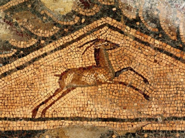 A detail from Late Antiquity mosaics in the Museum of Roman Mosaics in Bulgaria's Devnya. Photo: Devnya Municipality