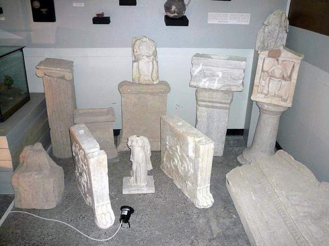 Statues and reliefs from the Cybele Temple after restoration in the Balchik Museum of History. Photo: Nova Dobrudzhanska Tribuna daily