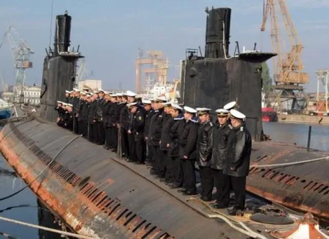 "The retirement of the last operational Bulgarian submarine, the Slava (""Glory""), in 2011. Photo: BGNES"