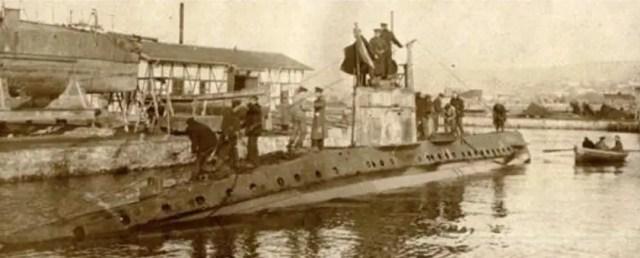 "The first Bulgarian submarine UB-18 called in Bulgarian ""Podvodnik-18"". Photo: Naval Museum"