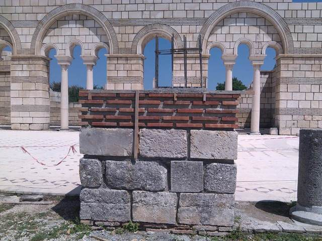 The most recent photo of the restoration works of the Great Basilica in Pliska released by the National Museum of History in Sofia as of June 1, 2016. Photo: National Museum of History