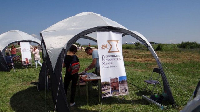 The stand of the Stara Zagora Regional Museum of History during the fair in Kabile.
