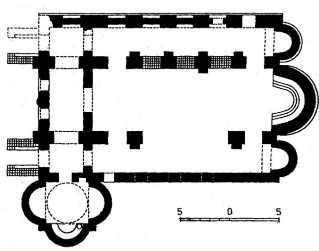 A blueprint of the Belovo Basilica by French-Ukrainian archaeologist Andre Grabar. Photo: Sveti Mesta