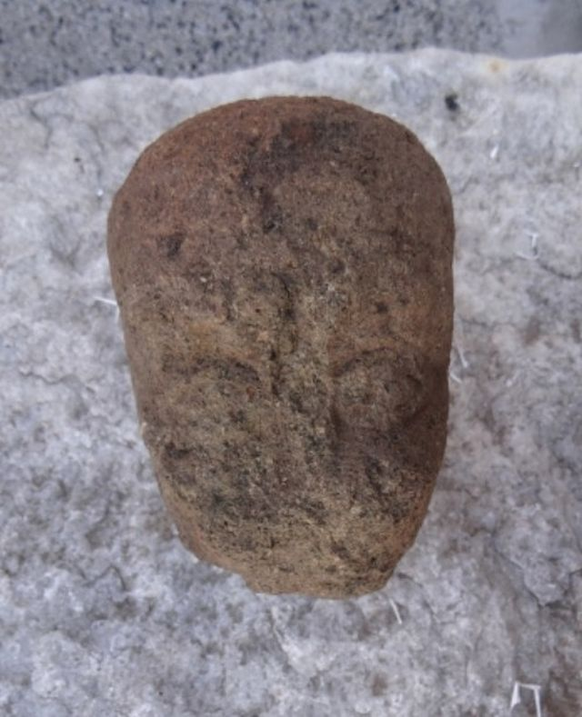This stone statue head, possibly of an emperor, is the most impressive artifact found in Aquae Calidae - Thermopolis so far this summer. Photos: Burgas Regional Museum of History