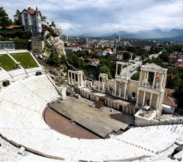 "A view of the Antiquity Amphitheater in Bulgaria's Plovdiv (also known as ""Ancient Theater"" or ""Antiquity Theater""). Photo: VisitPlovdiv, Plovdiv Municipality"