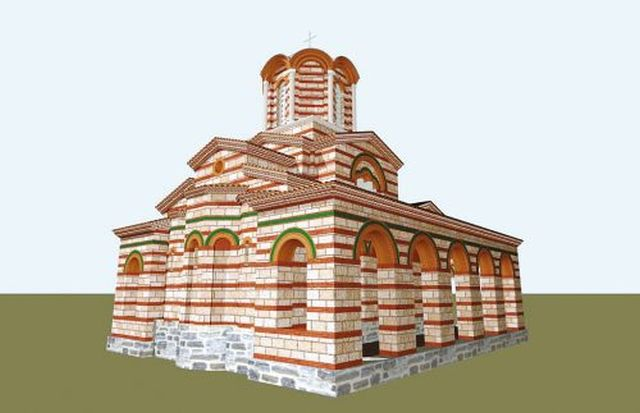 A 3D computer reconstruction of Church No. 3 in the Trapesitsa Fortress by architect Plamen Tsanev. Photo: Yantra Dnes