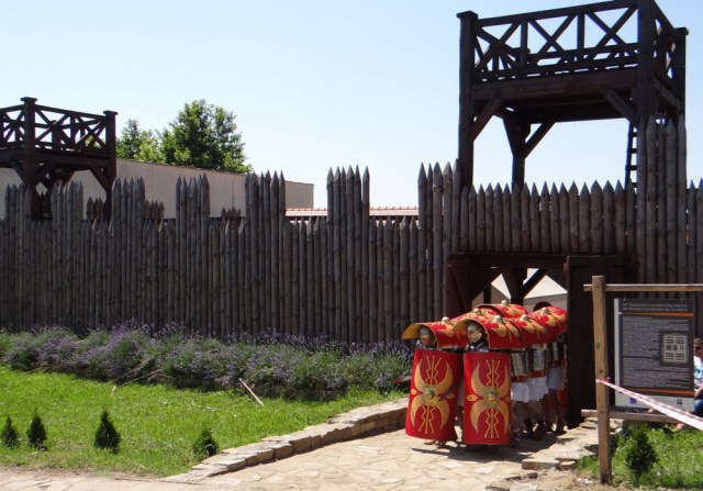 The Roman wooden keep built in the Kabyle Archaeological Preserve by Yambol Municipality as part of its restoration and development as a cultural tourism site. Photo: Yambol Muicipality