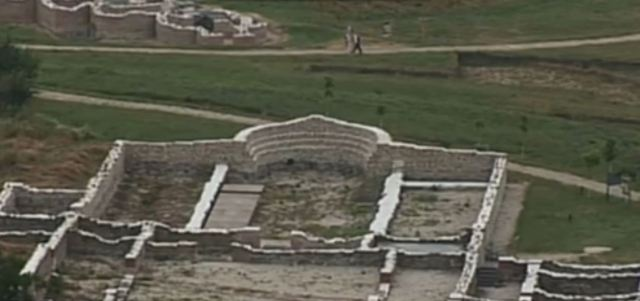 The partly restored ruins of ancient Kabyle. Photo: TV grab from BNT