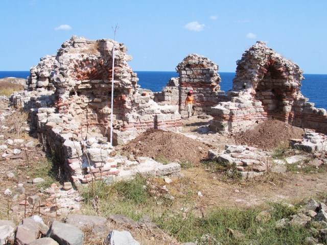 Part of the ruins of the St. John the Baptist Monastery on St. Ivan (St. John) Island in the Black Sea off the coast of Bulgaria's Sozopol. Photo: Archaeologist Prof. Kazimir Popkonstantinov