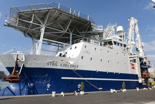 The Black M.A.P. team's research ship is the Stril Explorer, a state of the art offshore survey vessel equipped with the most advanced underwater survey systems in use anywhere in the world. Photo: Black Sea M.A.P.