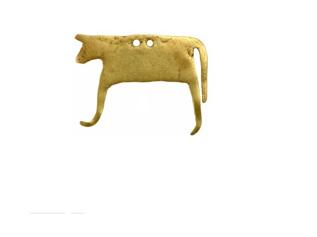 Gold necklace, mid 5th millennium BC, from grave 26 of the Varna necropolis. Photo: Varna Museum of Archaeology