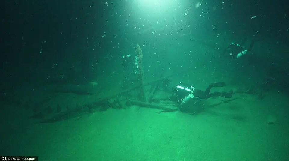 Bottom of the black sea God! Well