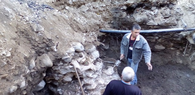 Medieval Fortress Wall, Lady's Ring with Crystal Discovered in Rescue Digs in Bulgaria's Asenovgrad