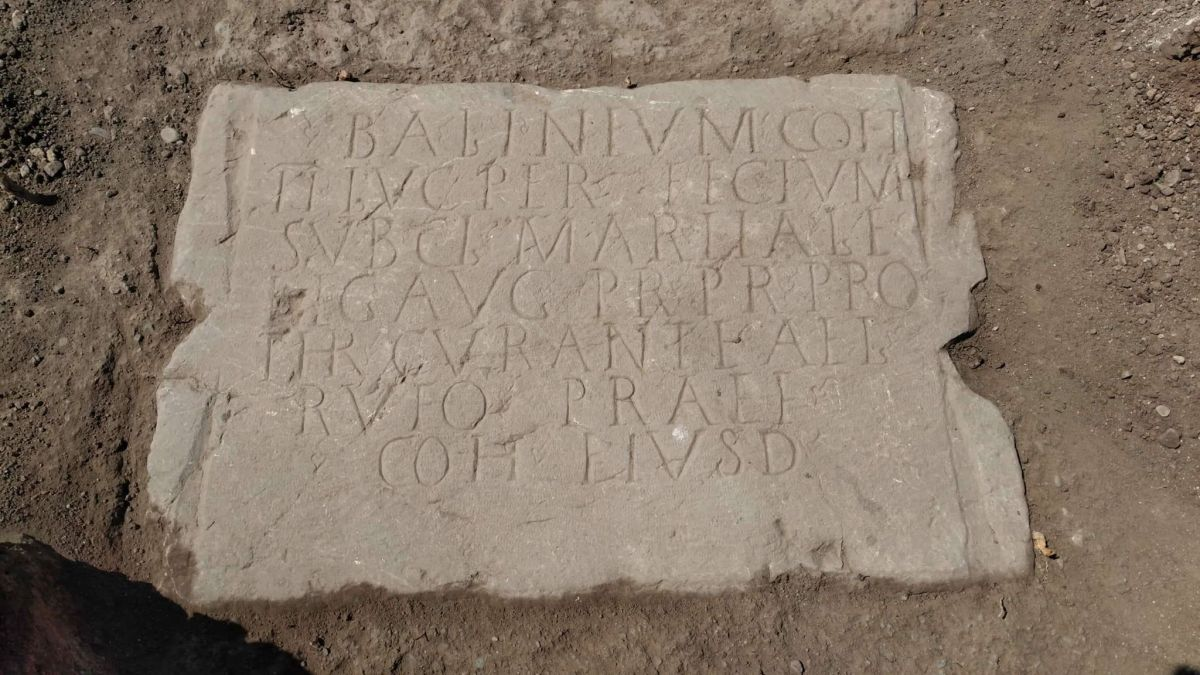 Intact Roman Inscription from Marcus Aurelius' Rule Found in Ancient Thracian City Kabyle in Southeast Bulgaria
