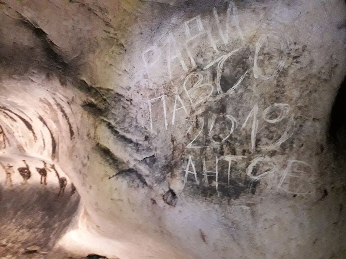 Invaluable Magura Cave with Prehistoric Drawings Vandalized with Scrawls in Northwest Bulgaria
