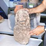 2nd Century BC Lion Statue from Hellenistic Era, Byzantine Oven Found in Ancient Assos in Turkey