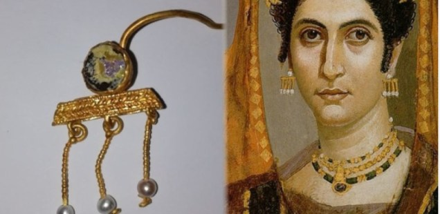 Gold Earring from Egypt's Fayum Mummy Portraits Discovered in Roman City Deultum in Southeast Bulgaria