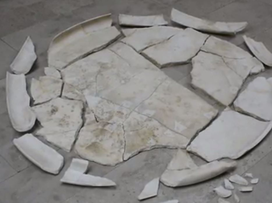 Rare 5th Century AD Late Roman Marble Table Discovered in Petrich Kale Fortress near Bulgaria's Varna