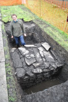 Chris Gee, from ORCA, during the Big Garden Dig in Kirkwall in 2016.