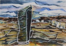 Standing Stone at the Ness of Brodgar-Painting by Jeanne
