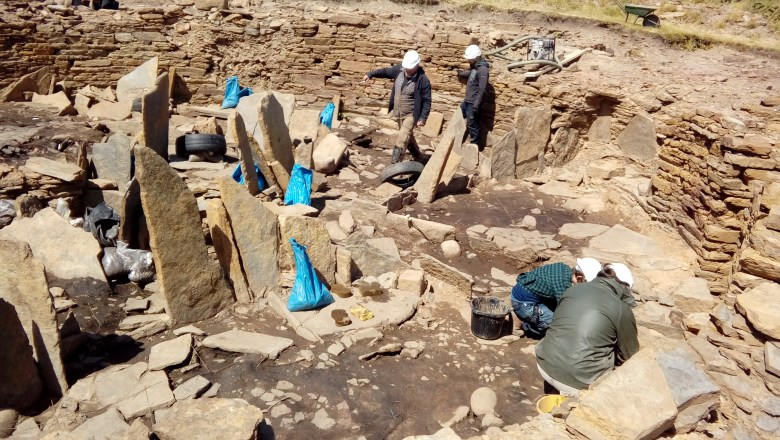 Cleaning up the broch interior