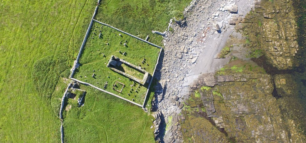 Aerial view of the Wirk, Rousay. (Bobby Friel)
