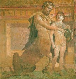 Chiron Instructs Young Achilles
