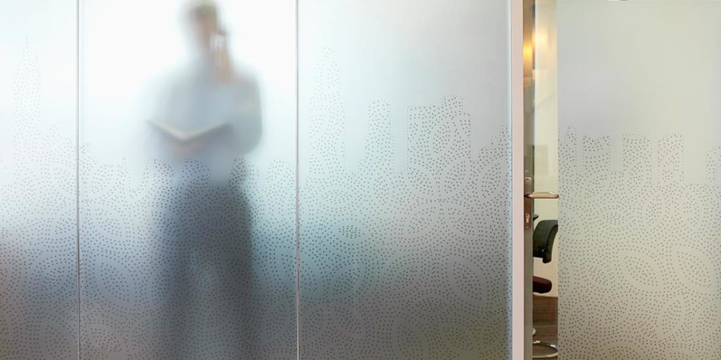 Frosted glass (photo by www.obrienglass.com.au)