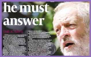 jeremy corbyn false anti semitism claims jewish chronicle