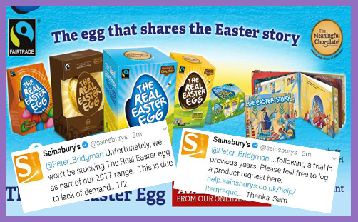 The Real Easter Egg and Sainsbury's unreal stock-check