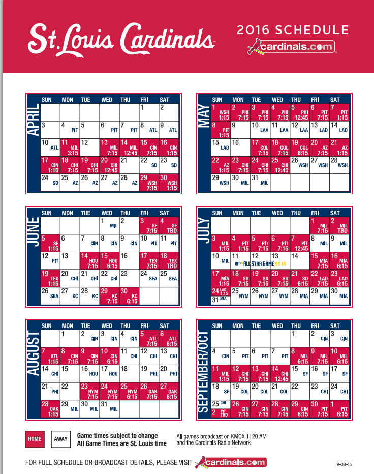 picture about St Louis Cardinals Printable Schedule called Mlb Agenda 2019 Opening Working day