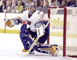 Keenan put too much pressure on Fuhr and relied on him far too much. Photo via ESPN.