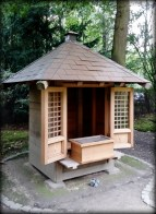 Shinto shrine or Jinja -- replica of the shrine in the Shukkei-en garden of Hiroshima