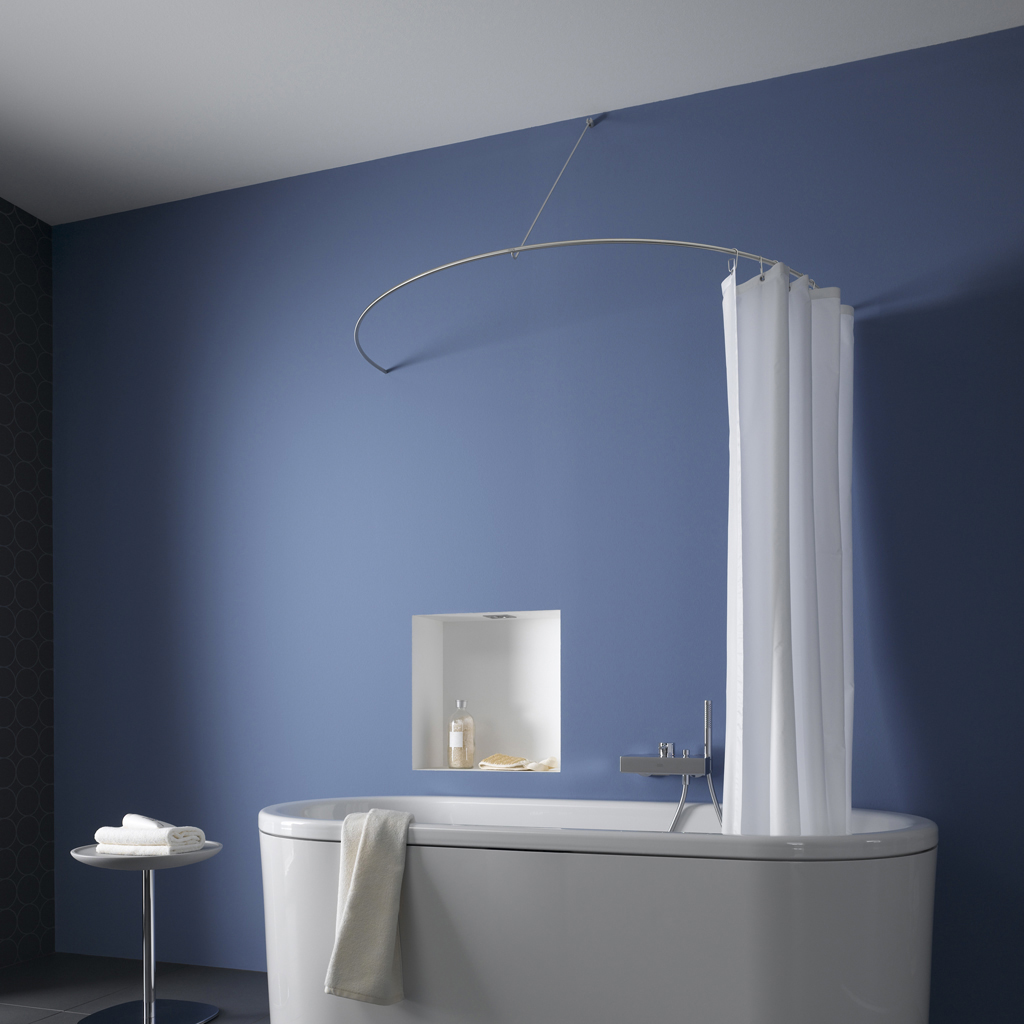 Curved Shower Curtain Rod As A Semi Circle By Phos Design