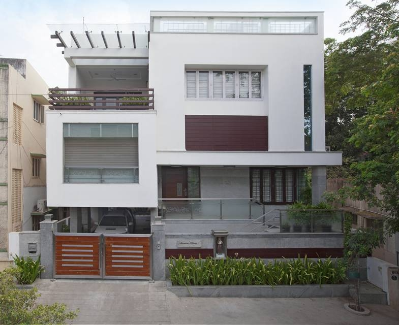 House Of Boxes Ansari And Associates Architects Archello   Exterior Staircase Designs For Indian Homes   Elevation   Indian Style   Combination   Front Entrance Outdoor Staircase   Wall