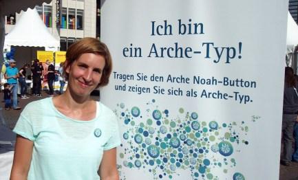 """Antje Hansen, Essen """"Ich bin ein Arche-Typ, weil jeder Mensch einmalig ist."""" Foto: Sonja Strahl"""