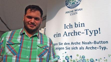 """Burak Kiyirli, Jugendvorstandsvorsitzender DITIB Islamische Gemeinde zu Essen- Altenessen e.V. """"Ich bin ein Arche-Typ, weil ich glaube, dass man in einer Großstadt wie Essen mit jedem leben kann."""" Foto: Sonja Strahl"""
