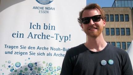 """Johannes Schepp, Essen """"Ich bin ein Arche-Typ, weil ich für eine kreative und offene Gesellschaft und gegen Rassismus bin."""" Foto: Sonja Strahl"""